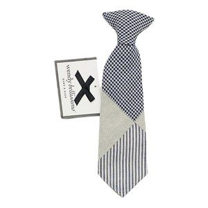 NWT! Wendy Bellissimo Mixed Fabric Clip On Tie